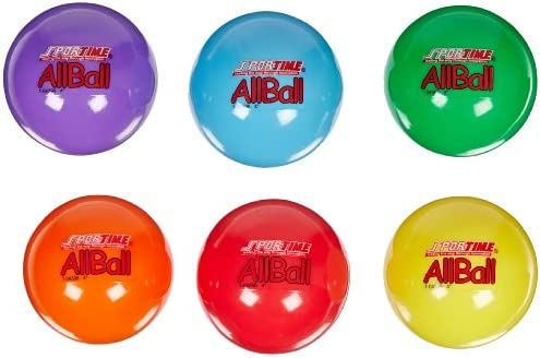 020500 Assorted Colors 3 Inches Set of 6 Sportime Multi-Purpose Inflatable All-Balls