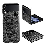 yiyiter Handyhülle für Samsung Galaxy Z Flip 3 5G Hülle Stylish PU Leder + Harte PC Ultra Dünn Lederhülle Slim Schutzhülle Hülle Cover Tasche für Samsung Z Flip 3 5G 2021