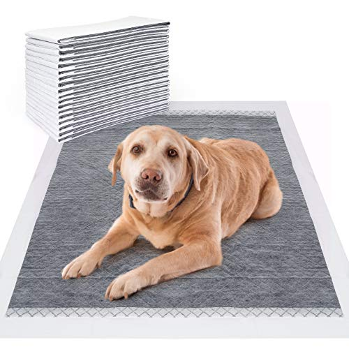 PAWDAY Training Pads for Dog and Puppy, Premium Disposable Dog Pee Pads, Refined Bamboo Charcoal has Ultra Absorbent & Leak-Proof Pet Underpads, 5-Layer Super Lock Water & Dry Quickly Puppy Pads