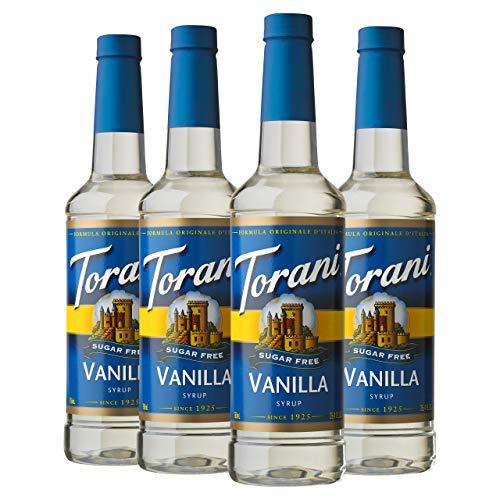 Torani Sugar Free Syrup, Vanilla, 25.4 Ounces (Pack of 4)