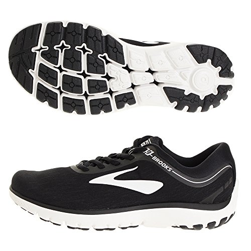 Brooks Women's PureFlow 7, Black/White, 7.5 B