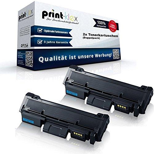 2x Kompatible Tonerkartuschen für Samsung Xpress M2625FN Xpress M2625N Xpress M2626 Xpress M2675FN Premium Line Xpress M2676 Xpress M2825DW Doppelpack MLT-D116S ELS MLT D116L MLT D116 LELS