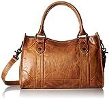 Frye womens Melissa Satchel Top Handle Handbag, Beige, One Size US