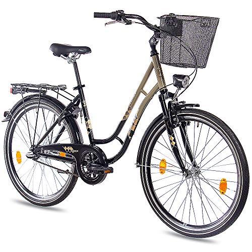 KCP 26 Zoll Cityrad Damenrad TOURY mit 3G Shimano Nexus & Rücktritt nach StVZO schwarz Oliv