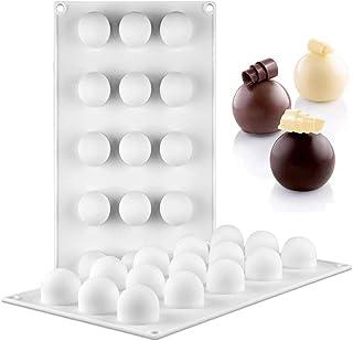 JasCherry Forma de Pelota Esfera Moldes de Silicone - Premium Antiadherente Moldes para Tartas, Repostería, Bizcocho, Gelatina, Jabón, Muffin, Pudín #2