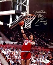 Julius Erving Autographed Signed Memorabilia 8x10 Photo Sixers Road Slam Dunk JSA R33896