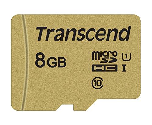 Transcend TS8GUSD500S microSDHC 500S Scheda di Memoria, 8 GB