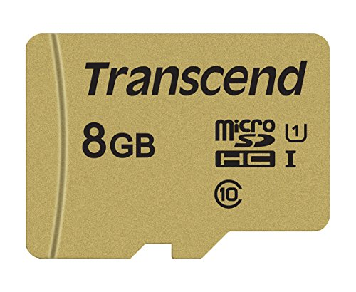 Transcend Ultra-Highspeed 8GB micro SDXC/SDHC Speicherkarte (für Action-Cams / Dashcams und Drohnen) / UHS-I – TS8GUSD500S