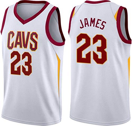 WSUN Camiseta De La NBA para Hombre, Cavaliers NBA 23# Lebron James Camisetas De Baloncesto,Camiseta Deportiva De Baloncesto Transpirable De Ocio Camisetas De Swingman,M(170~175CM/65~75KG)