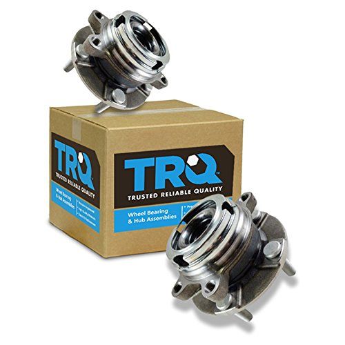 TRQ Front Wheel Hubs & Bearings Pair Set of 2...
