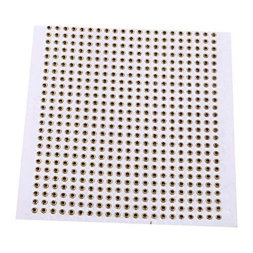 Tbest 500pcs Fishing Lure 3D Eyes Waterproof Fishing Eyes Esche Accessori Sostituzione per Fai da Te 3/4 / 5mm(4mm-Gold)