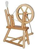 alles-meine.de GmbH Miniatur Spinnrad - aus hellem Natur Holz - lackiert - für Puppenstube Maßstab 1:12 - Puppenhaus Puppenhausmöbel - zum Spinnen Wolle - Schafwolle Spindel Dorn.. -