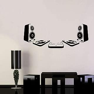 Lznxzq Vinyl Wall Decal Sticker Room Music Dj Acoustic Speakers EDM Equipment