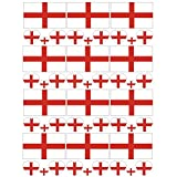 SpringPear 12x Temporär Tattoo von Flagge Englands für Internationale Wettbewerbe Olympischen Spiele Weltmeisterschaft Wasserfeste Fahnen Tätowierung Flaggenaufkleber WM Fan Set (12 Pcs)