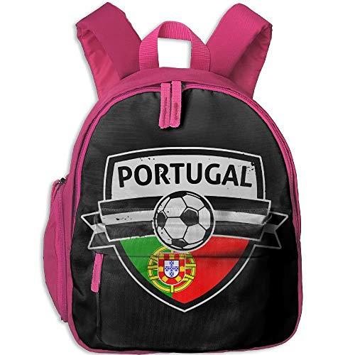 Yuanmeiju Bandera Portuguesa Fútbol Estudiante Mochilas Escolares Pies Super Bookbag