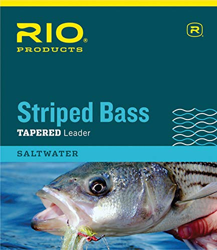 RIO Fly Fishing Striped Bass Tapered 7' 30Lb Fishing Leaders, Clear