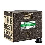 Note d'Espresso - Cápsulas de café para las cafeteras Caffitaly, Intenso, 6,8 g 100 unidades de