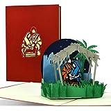 W36 - Biglietto natalizio 3D pop up con presepe, biglietto di auguri per l'Avvento e per Natale, idea regalo originale per un regalo di denaro
