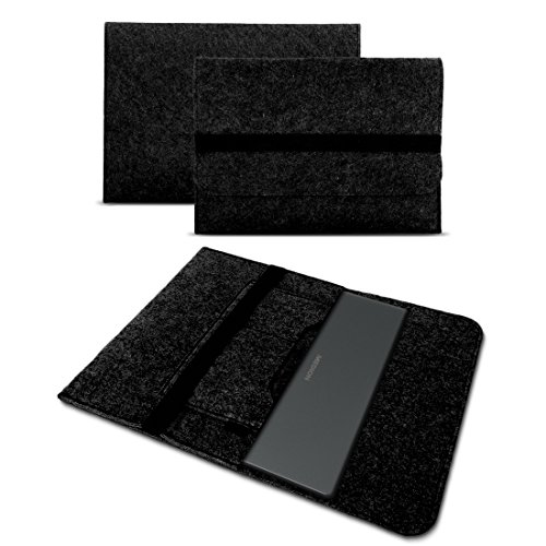 UC-Express Sleeve Hülle für Medion Akoya E1239T Tasche Filz Notebook Cover Laptop Case Grau, Farbe:dunkel Grau