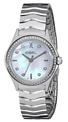 Ebel Damen 1216194 Wave Analog Display Swiss Quartz Silber Uhr
