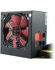 Mars Gaming MPII850, Fuente de Alimentación Para Pc (850 W, 12 V, Atx, Cableado Modular, Ventilador 12 Cm, Sistema Anti-Vibración, Eficiencia + 85%), SATA, 850W, Negro/Rojo