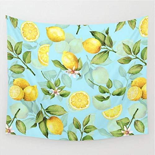 NC56 Vintage Shabby Chic Limonade Tapisserie Obst Wandbehang Teppich Tagesdecke Strandmatte Wandteppiche Kunst Wohnaccessoires-XL/175X230cm