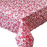 3 Manteles de Plástico 180cmx180cm con Corazones Amor Mantel de Mesa Cuadrada Fiesta San Valentín Boda Cumpleaños Decoración Comedor de Mesa Corazón Rosa