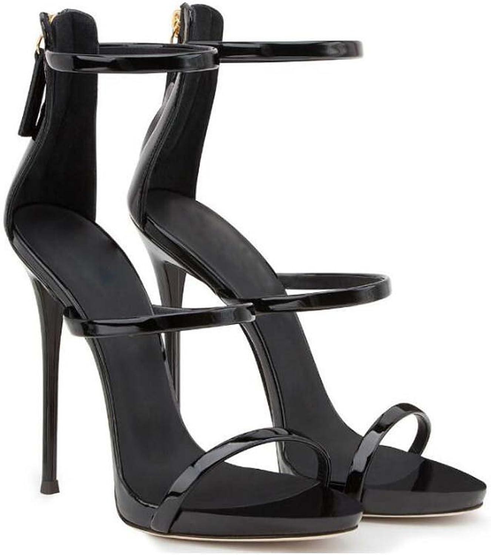Women Pump Open Toe Hollow D'orsay Ankle Strap Sandals Wedding shoes Simple 12cm Stiletto Party shoes Roma shoes Eu Size 34-45