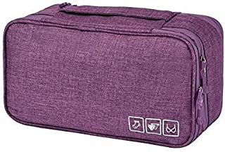 Packing Organizer Bra Underwear Storage Bag Travel Lingerie Pouch Toiletry Organizer, Purple