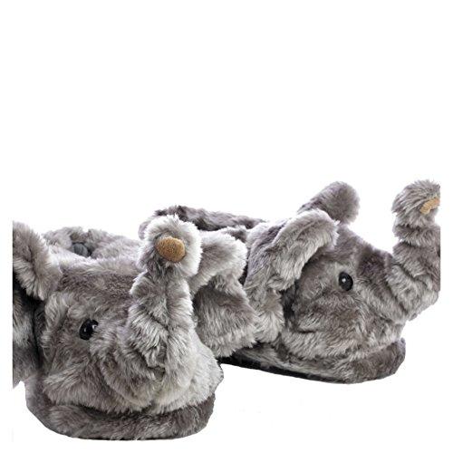 Sleeper'z Hausschuh Elefant - Geschlossene Plüsch-Pantoffeln - 41/43 (XL)