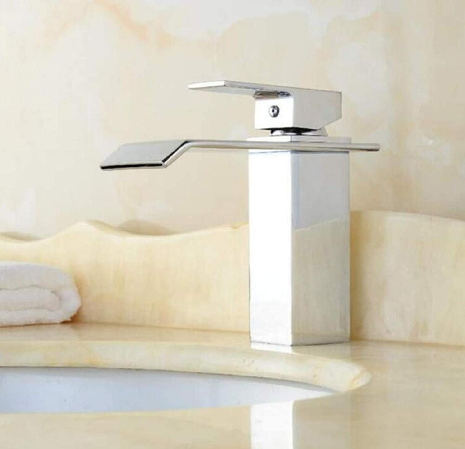 Brass Wall Faucet Chrome Brass Faucetfaucet Vanity Vessel Sinks Mixer Tap Cold and Hot Water Tap The Basin Faucet