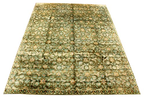 ORNAMENT SEIDENTEPPICH 297 x 230 cm Naturseide Modern Kliassisch Orient Teppich Rug Silk Carpet LAGERVERKAUF