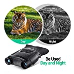BEBANG Lightweight Night Vision Binoculars, 3.5'' Large Screen-32GB TF Card Infrared Hunting Scope with Photo & Video Recorder Function Day and Night for Wildlife