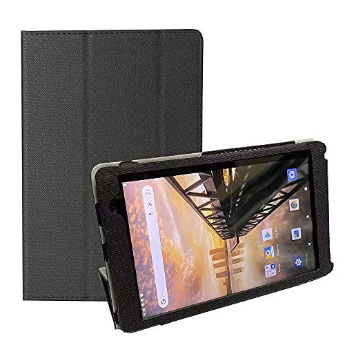 ケース COOPERS CP80対応用タブレットケース8インチ スマートカバー 軽量薄型 耐久耐磨耗 傷つき防止 汚れ防止 (Black)
