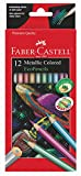 Faber-Castell Metallic Colored Ecopencils - 12 Break Resistant Coloring Pencils