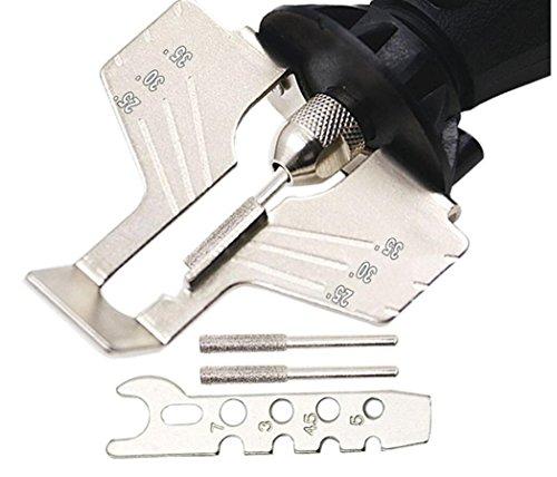 Hycy Saw Schärfen Attachment Sharpener Guide Drill Adapter Stil Bohren Rotary Mini Drill Elektrowerkzeug Zubehör Set