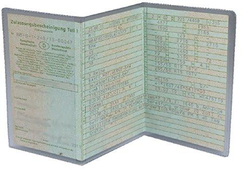 L&P Car Design GmbH L&P A250 1 Stück KFZ Fahrzeugschein Schutzhülle 3 teilig Fahrzeug Schein Etui KFZ Hülle Schutzfolie aus PVC Motorrad Krad transparent (1)