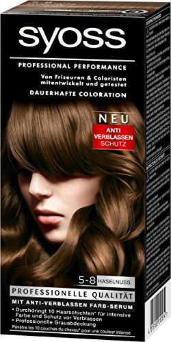 Syoss Coloration 5-8 Haselnuss, 3er Pack (3 x 115 ml)