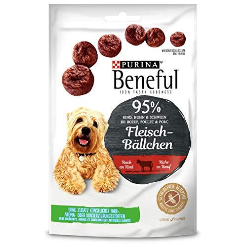 Beneful Fleisch-Bällchen Rind Hundesnack Beutel, 7er Pack (7 x 70 g)