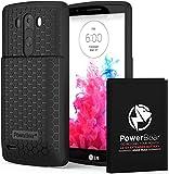 PowerBear Batterie Longue durée pour LG G3 6500 mAh avec Coque et étui [Batterie...