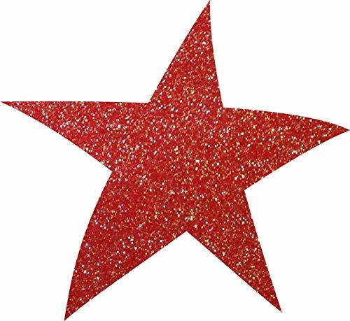 Petra S Bricolage-News 50 x étoiles 40 mm en Feutre Gliter Couleur : Bordeaux Streudeko, FLIZ, vin Rouge, 18 x 12 x 3 cm