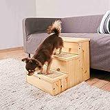 Trixie Pet Scala Scale per Cani e Gatti, Betulla, 40X38 45cm - Passi Tappeto Coperto appoggio Sicuro