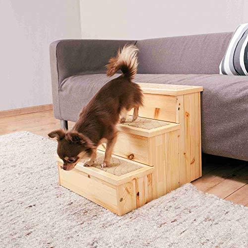 Trixie petstair escaleras para perros y gatos, de abedul, 40x 3845cm–Alfombra cubierta pasos Base para