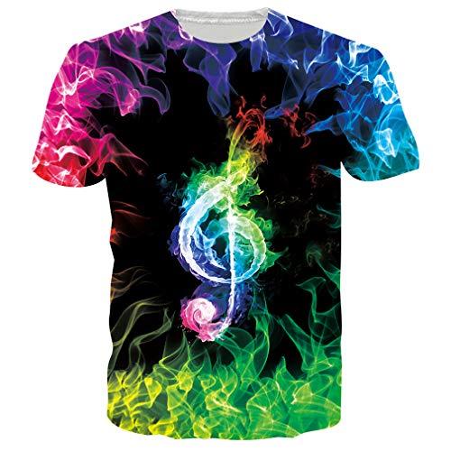 RAISEVERN Geburtstagsgeschenke für Männer/Teens Casual Kurzarm Vintage T-Shirt Schwarz XXL