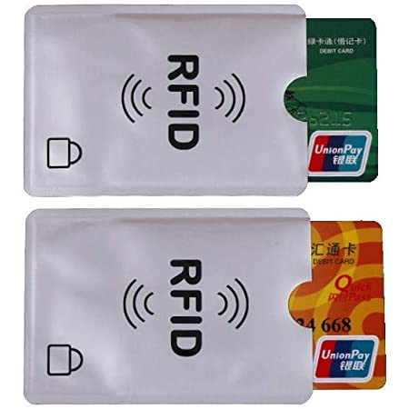 Universal RFID Blocking Credit Card Sleeves | 10 Pack of Contactless Card Protection Holders for Identity Theft Protection - Ideal for Debit and Credit Cards, ID & Key Cards