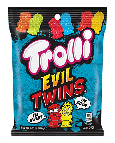 Trolli Evil Twins Sour Gummy Candy, 4.25 Ounce, Pack of 12
