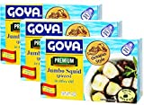 Goya Premium Jumbo Squid Octopus Style in Olive Oil 4 oz Pack of 3