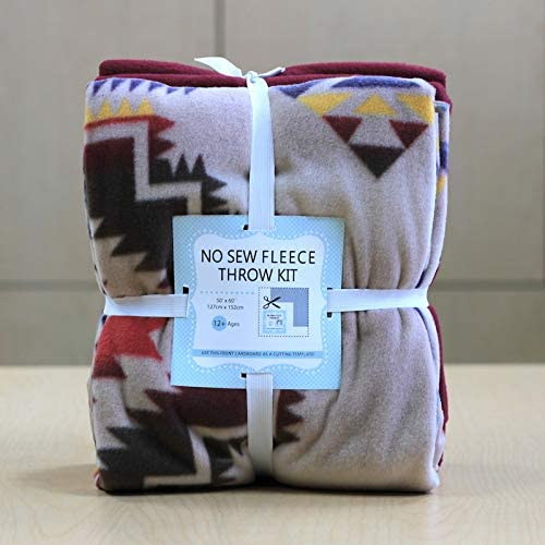 Native American Design Anti-Pill Outlet List price ☆ Free Shipping No-Sew Fabric Kit Throw Fleece