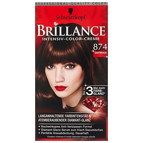 Schwarzkopf Brillance Coloration Stufe 3, 874 Samtbraun, 143 ml