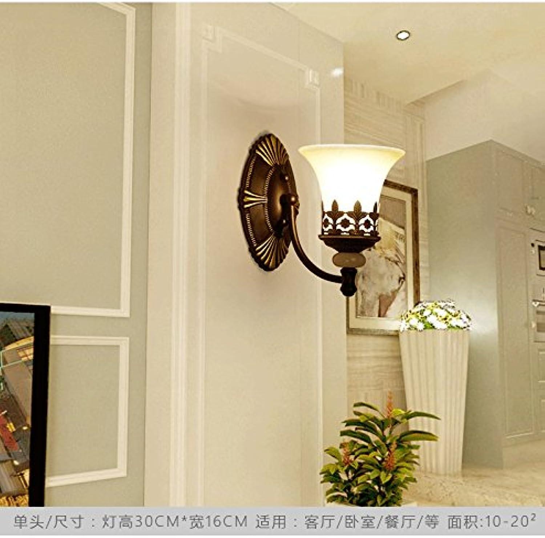 Amerikanische wandleuchte wohnzimmer wand TV wandleuchte kreative persnlichkeit retro licht luxus Europischen Nordischen schlafzimmer nachttischlampe, Armee Grün 8036-1